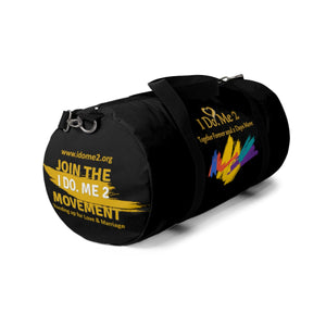 I Do Me 2 Black/Gold colorful splash Duffle Bag