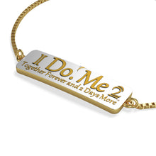 Gold on white IdoMe2 Box Chain Bracelet