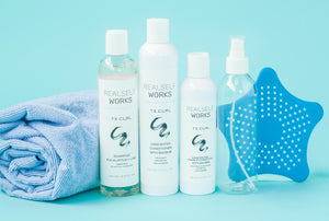 Curly hair care solution kit / natural