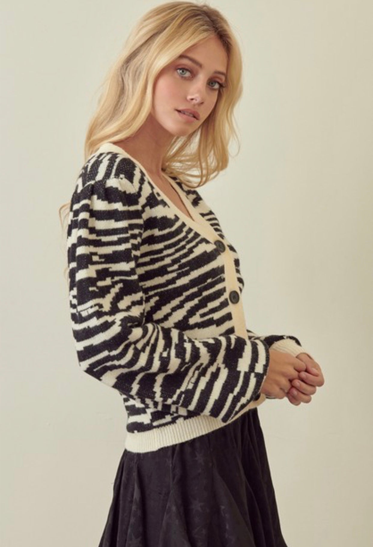 Holly Zebra Cardigan