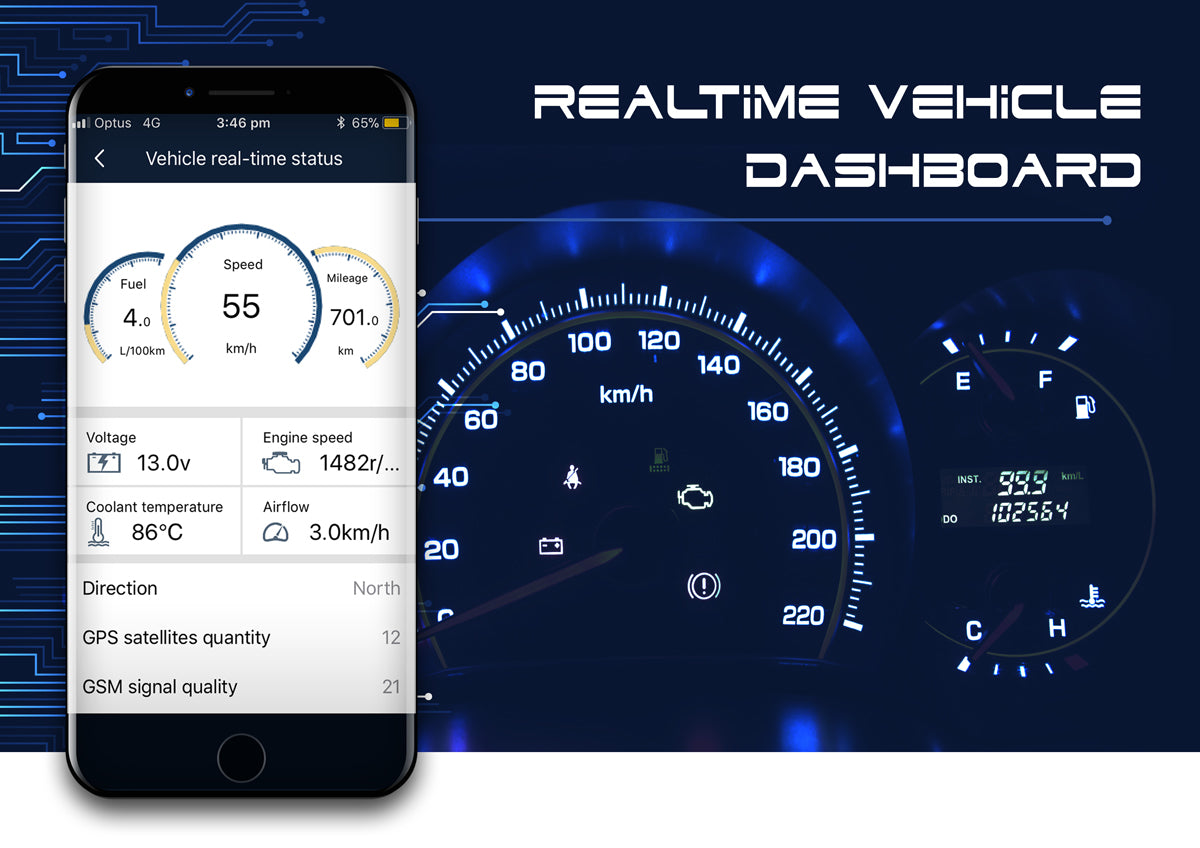 AmberOBD Vehicle Dashboard