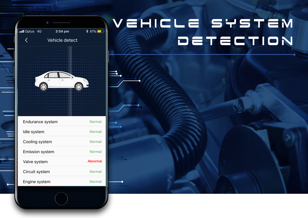 AmberOBD Vehicle System Detection