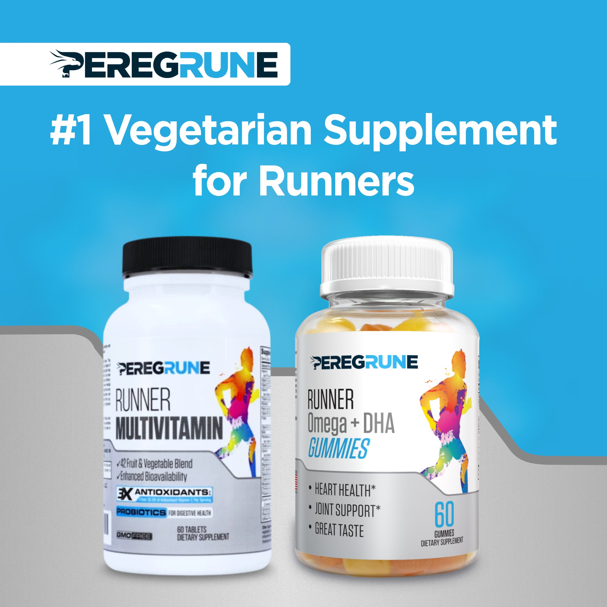 Runner Multivitamin + Omega Gummy Bundle (Vegetarian) - 1 Month Supply