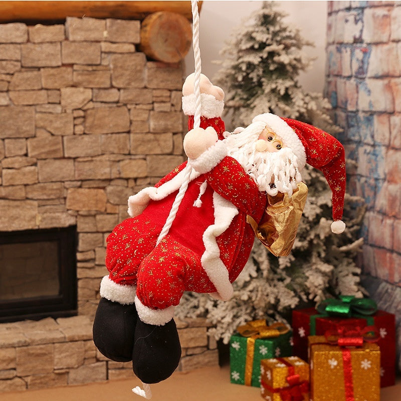 30cm Christmas Gifts Decoration Cartoon Fabrics Santa Claus Market Showcase Decor