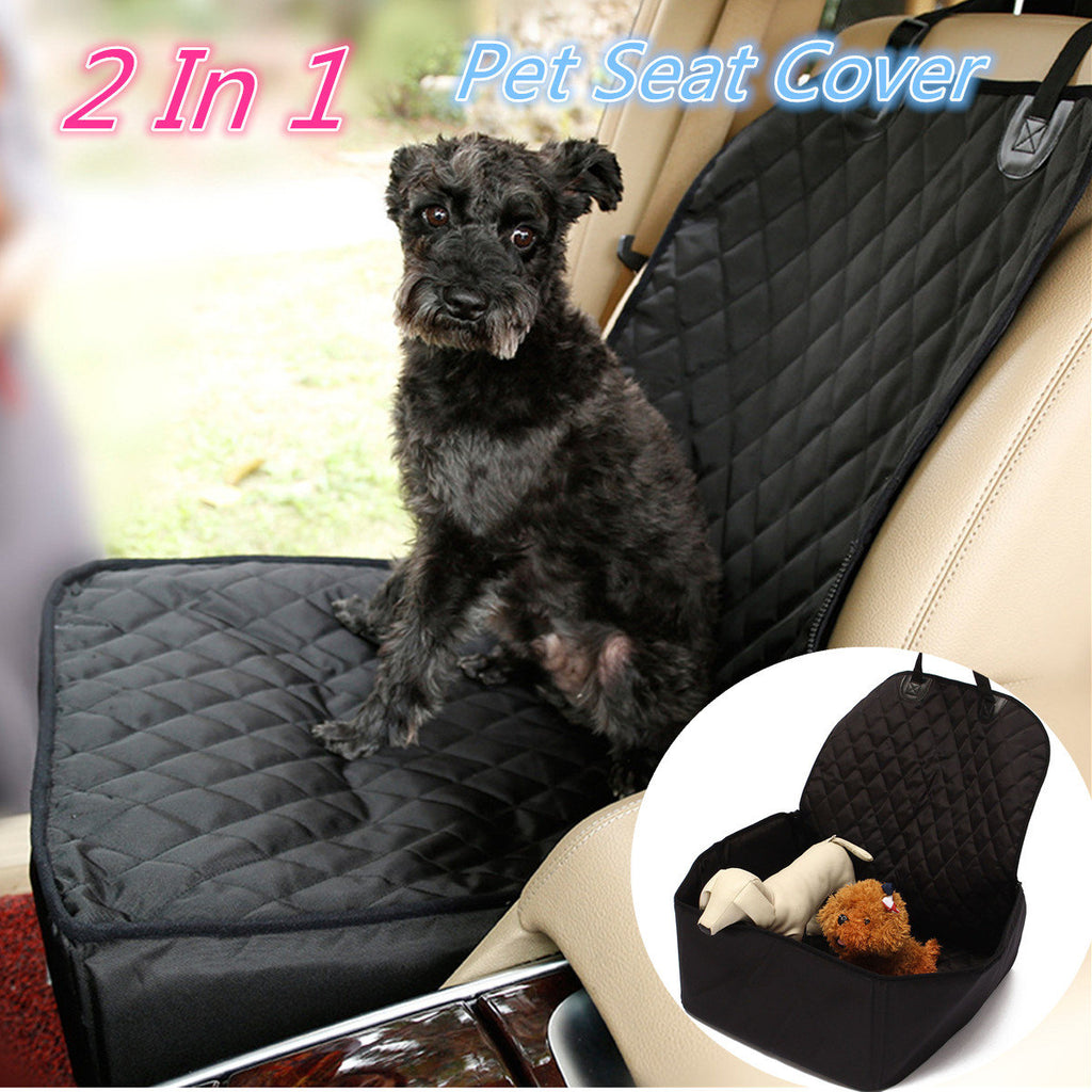 1pc Black Pet Travel Auto Front Basket Mat Vehicle Dog Car Seat Cover Protector