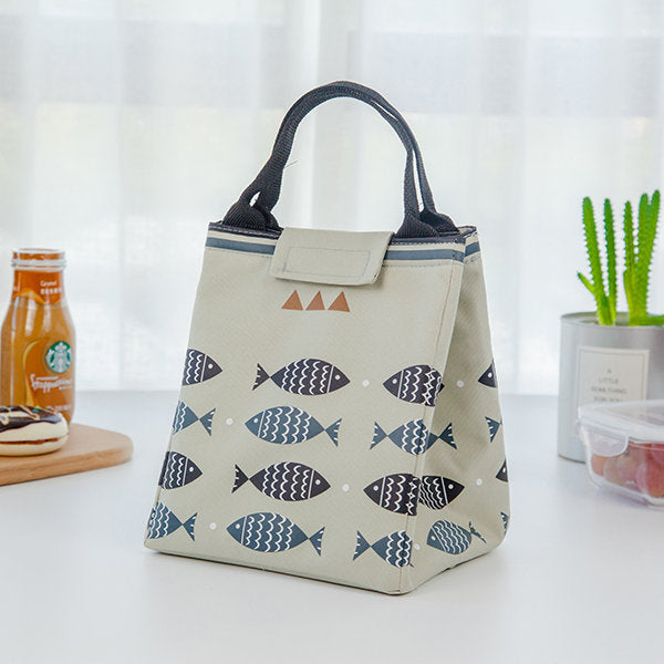 WaterproofLunch Tote Bag Oxford  Cooler Insulated Handbag Cute Storage Containers Food Container