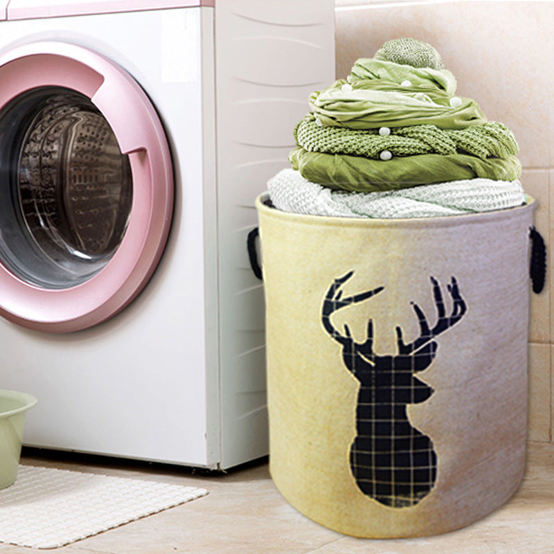 Waterproof Jute Sheets Clothing Storage Laundry Basket Bin