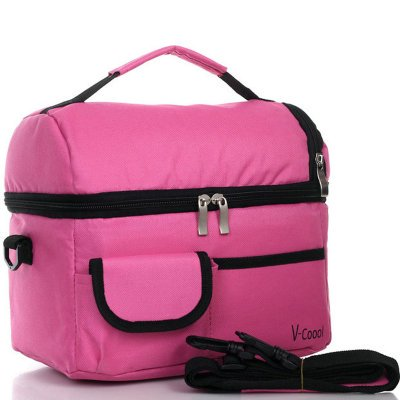 Large Double Layer Cold Preservation Bag Convenient Picnic Lunch Bag Ice Bag Lunch Box Assorted Colors Available