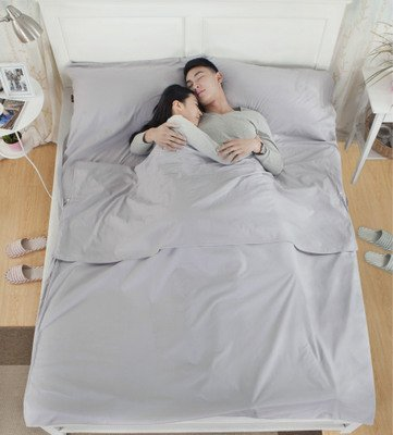 Durable and Soft Single Bed Sheet/Sleep Sack/Sleeping Bag for Camping Travel