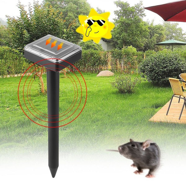 Garden Yard Solar Powered Ultrasonic Sonic Mouse Mole Pest Rodent Repeller Repellent Control