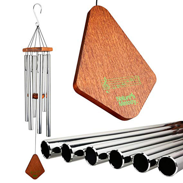 "18"" Outdoor Wind Chimes with 6 Aluminum Tubes Musical Melody Wind Bell for Garden, Patio, Balcony, Indoor Decor"