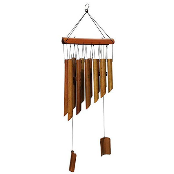 25 Inch 12 Tubes Double Antique Nature Bamboo Feng Shui Wind Chime Indoor Outdoor Wooden Melody Wind Bell