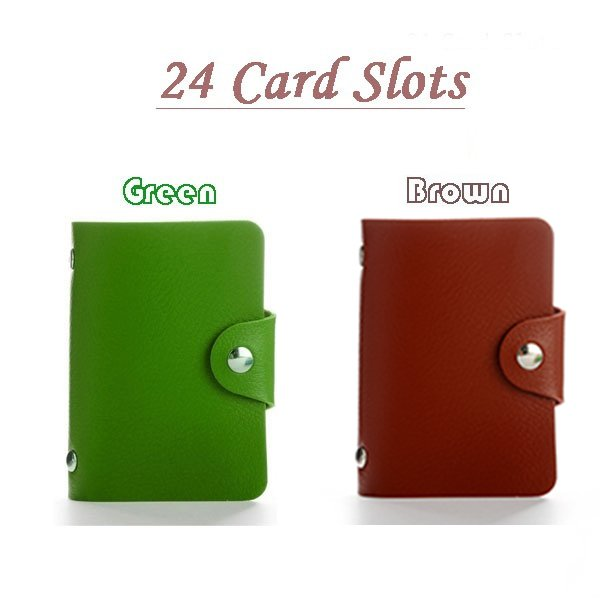 24/108 Card Slots Business Credit Card Bank Card Holder PU Leather Card Wallet