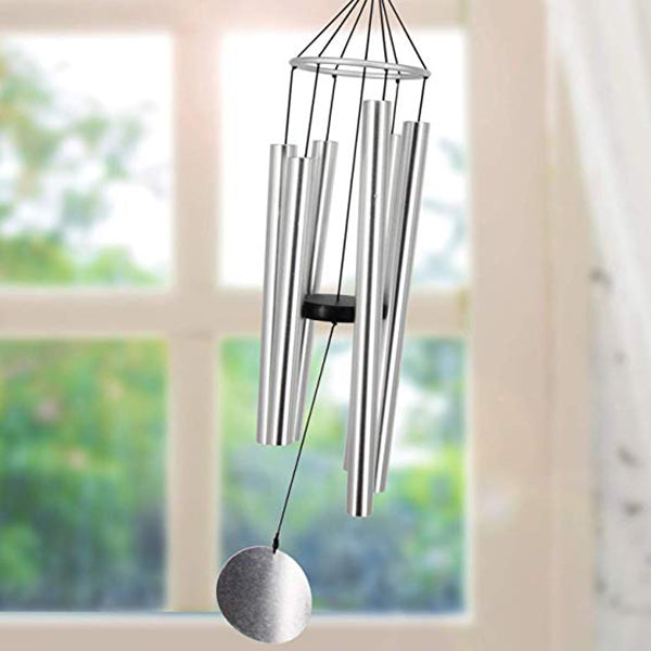 "28"" Wind Chimes Aluminum Tube Music Metal Wind Chimes as Gift or Outdoor Decoration for Your Patio, Porch, Yard"