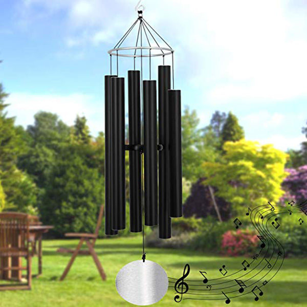 "Large Metal Musical Wind Chimes Outdoor- Tuned 28"" Garden Wooden Windchimes for Patio Terrace Home Decor"