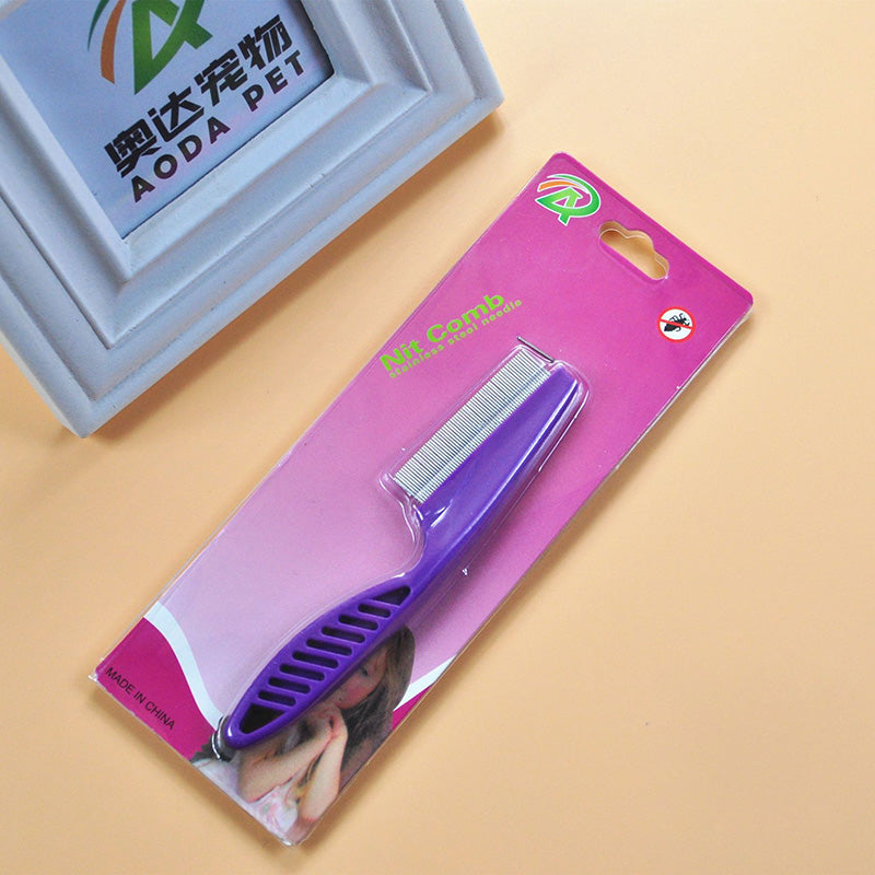 Pet Hair Grooming Comb Flea Shedding Brush Puppy Dog Cat Stainless Pin