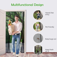 Summer Mesh Insect Fly Bug Mosquito Door Curtain Net Netting Mesh Screen Magnets