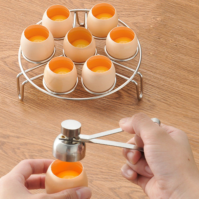 Stainless Steel Egg Topper Cutter Shell Boiled Raw Egg Openers Kitchen Tool