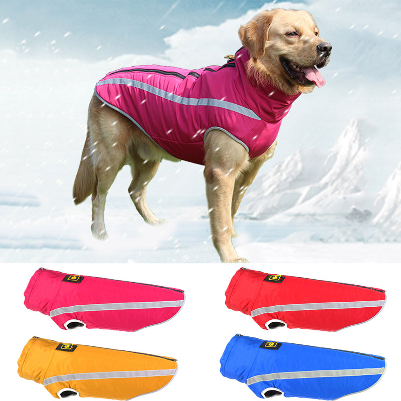 Autumn and Winter New Pet Jackets Warm Reflective Thickening Big Dog Clothes