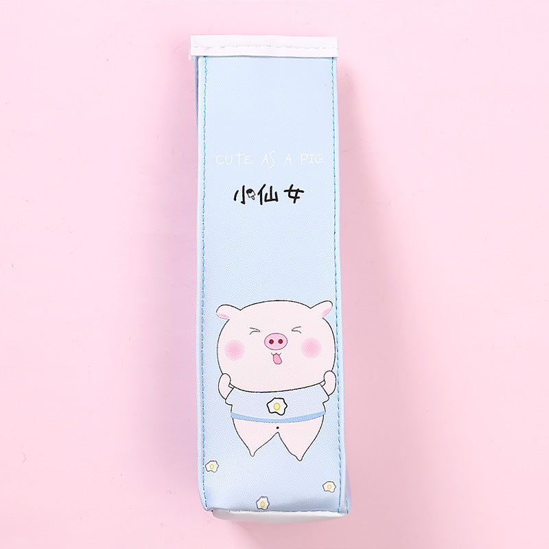 Cute Cartoon Pink Pig Milk Box Pencil Case Student Stationery Storage Supplies