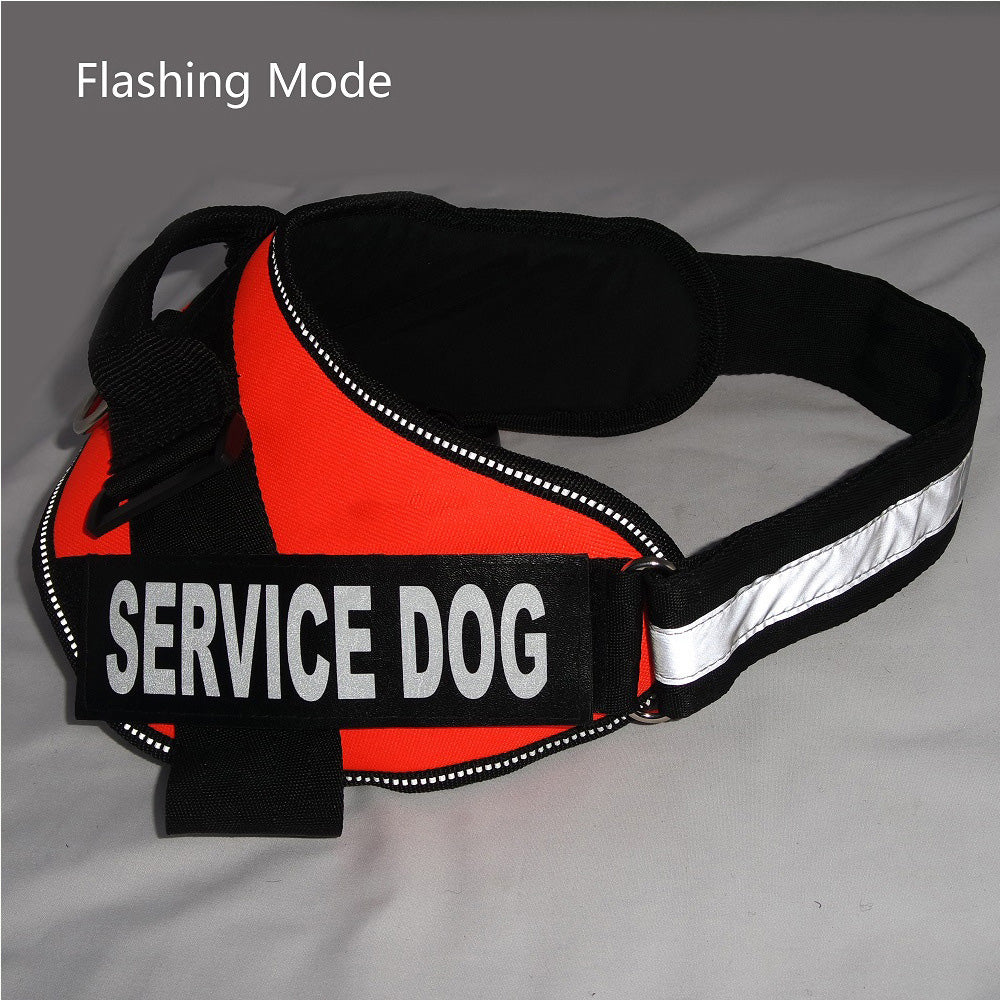 Comfortable Service Dog Harness Pet Training Vest with Reflective Patches for Large Medium Small Dogs From Size XXS-XXL