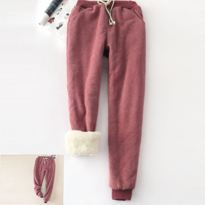 Faux Fur Casual Shift Pants