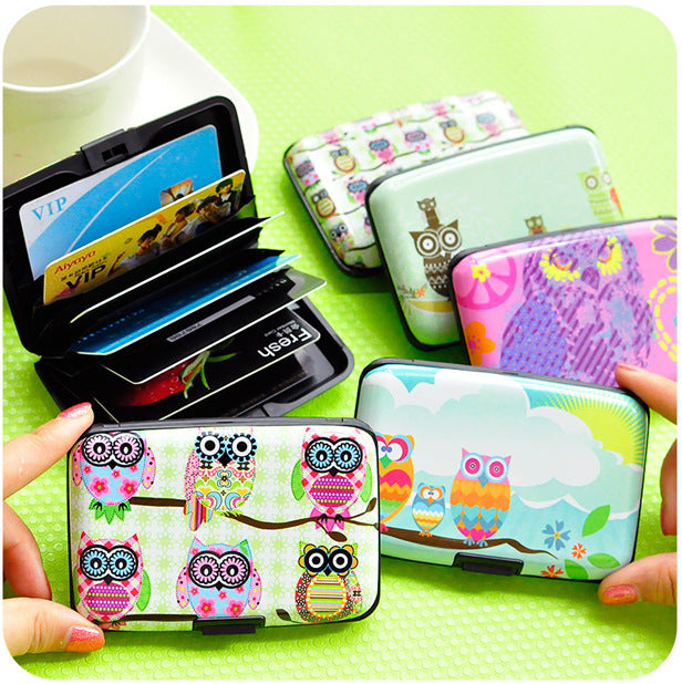 1 X Cute Cartoon Plastic Bank Credit Card Bag Lovely Fashion Owl ID Card Holder Bags