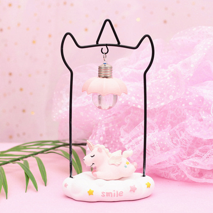 Unicorn Cute Style Child Bedroom Bedside Night Light Christmas New Year Kids Gift