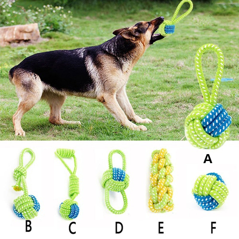 Dog Toy Dog Chews Cotton Rope Knot Ball Grinding Teeth Odontoprisis Pet Toys Large Small Dogs fallinlovers