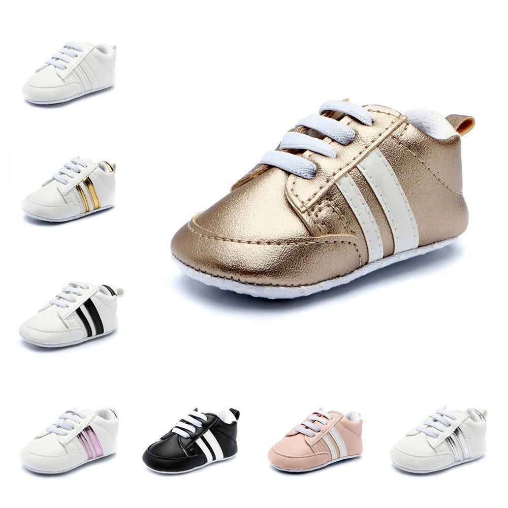 Baby Shoes Soft Bottom Anti-skid PU Leather Shoe For Infant Toddler Boys Girls (0-18M)