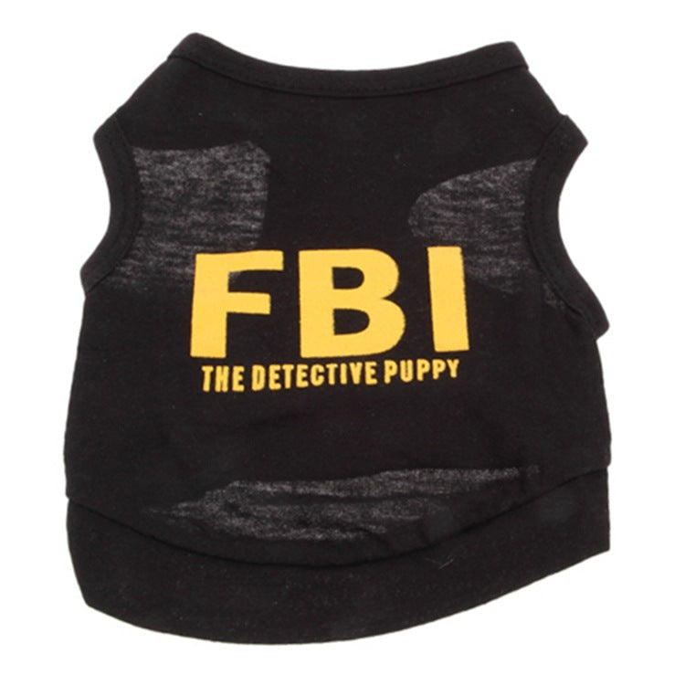 Stylish FBI Letter Print Dog Puppy Pets Vests Clothes
