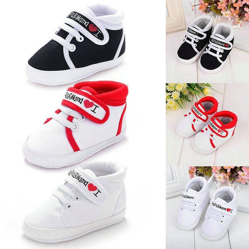 Stylish Baby Infant Kids Boys Girls Soft Sole Canvas Sneaker Toddler Shoes 0-18M