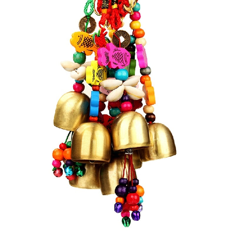 1PCS National Copper Bell Mobile Wind Chime Home Yard Garden Outdoor Living Decor