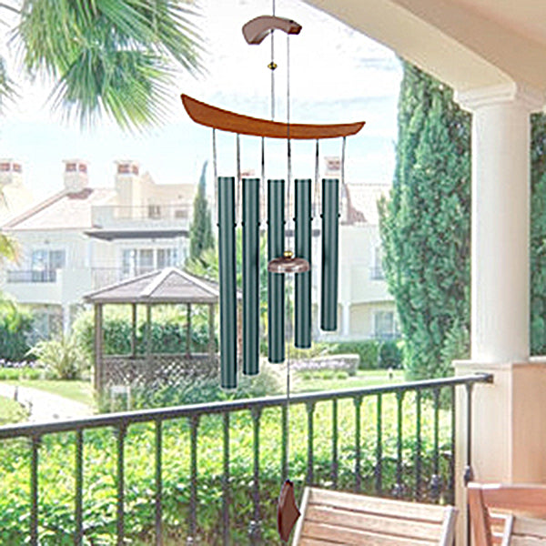 Garden Wind Chimes 40 Inch Wind Chimes with 5 Big Metal Tubes Personalized Wind Chimes as for Yard, Garden, Door, Window Decor
