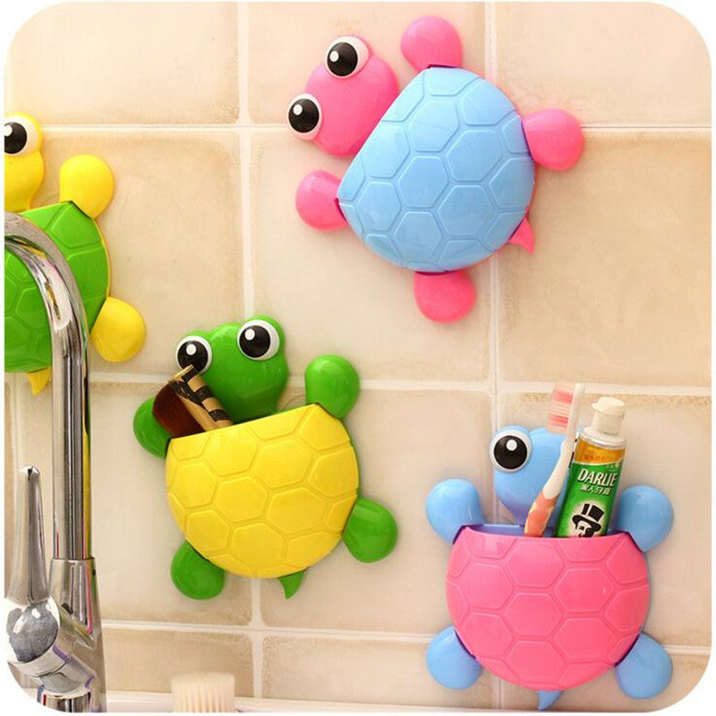 Cute Cartoon Turtle Shaped Toothpaste Holders Cup Bathroom Toothbrush Holder Home Decor Accessories