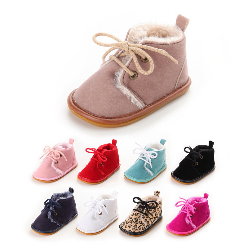Infant Toddler Newborn Baby Boys Girls Boots Crib Babe Shoes