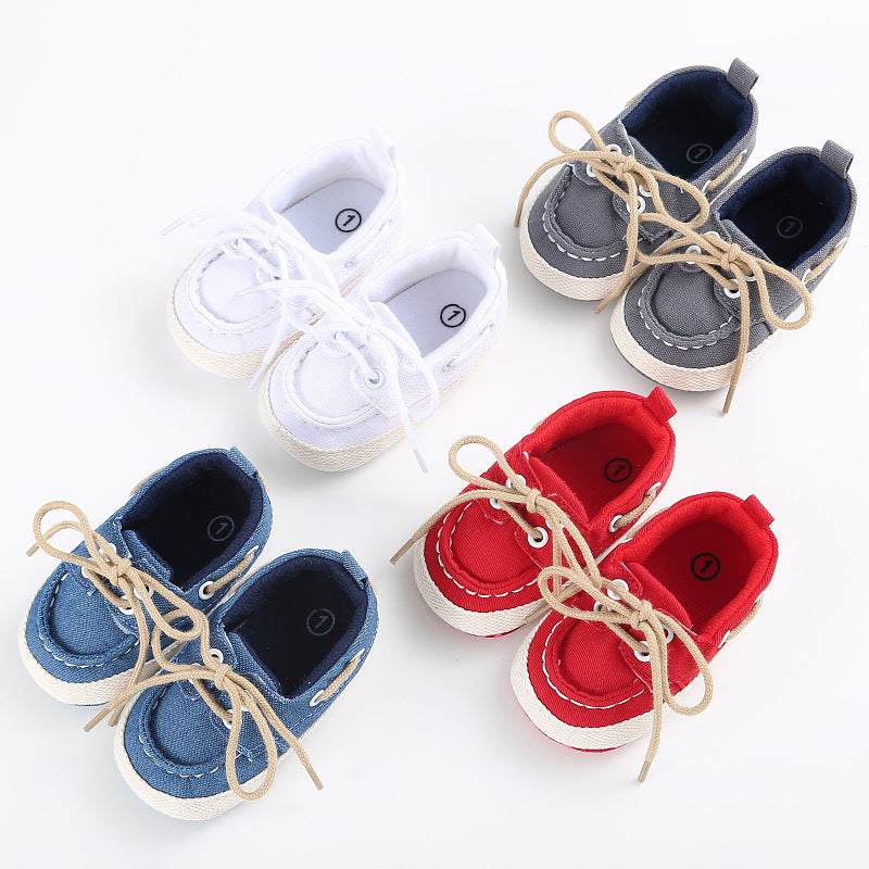 Infant Toddler Sneaker Baby Boy Girl Crib Casual Lace-Up Shoes Newborn 3 to 12 Months