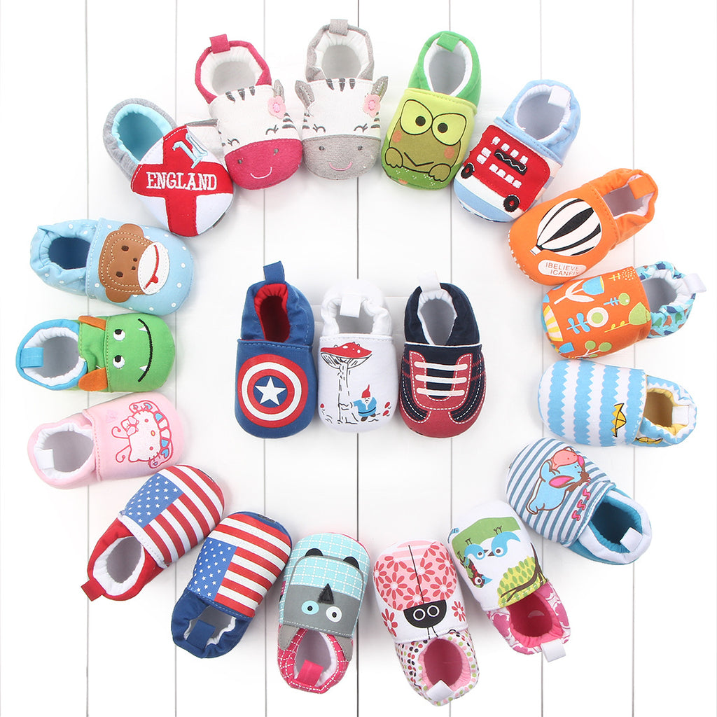 Lovely Cartoon Infant Baby Toddler Shoes Baby Girl Boy Cotton Soft Bottom Shoes for 0-12M