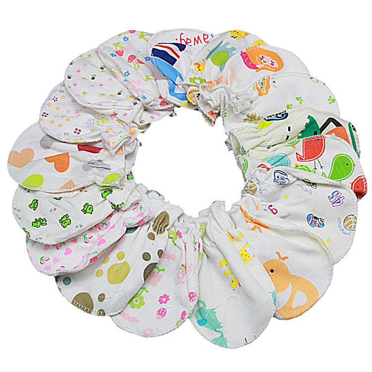 1 Pairs Soft Cotton Newborn Baby Infant Anti Scratch Mittens Gloves Handguard 0-6M