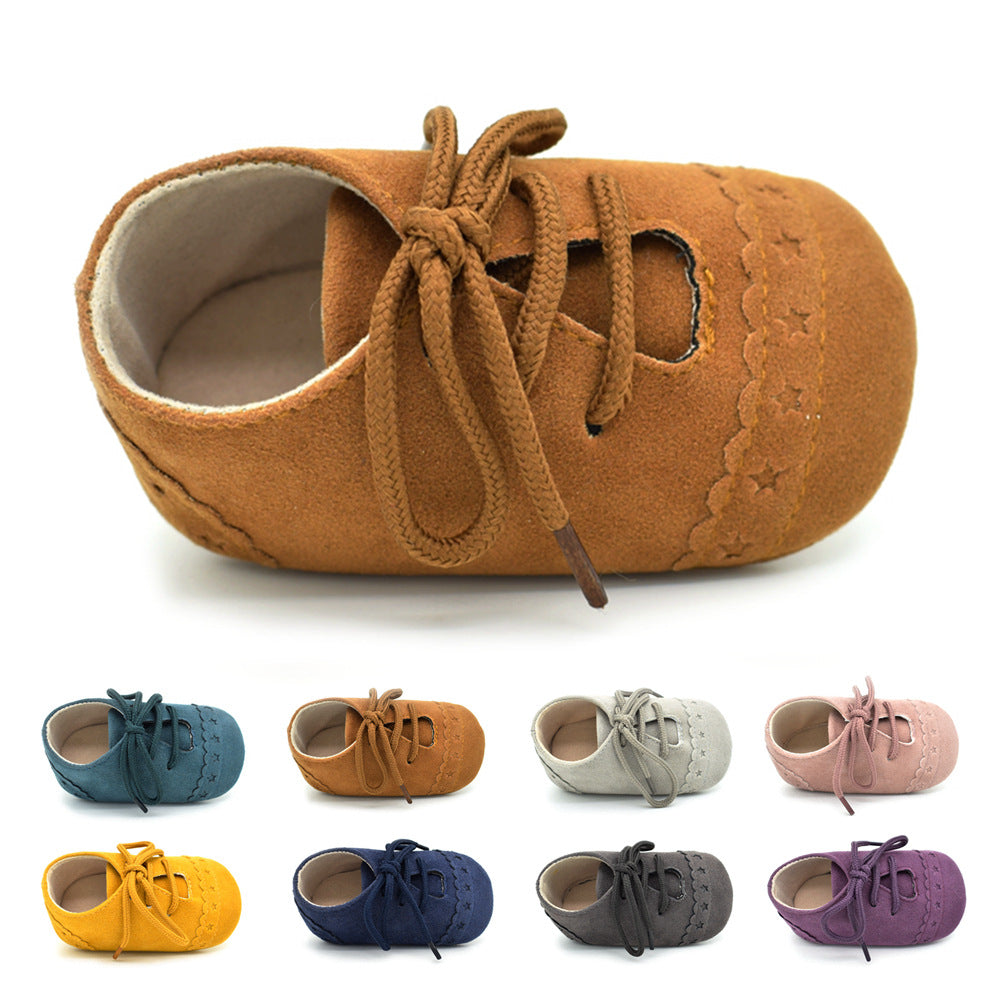 Baby Girl Boy Shoes Infant Casual Lace-Up Leather Shoes Toddler Soft Sole Crib Shoes