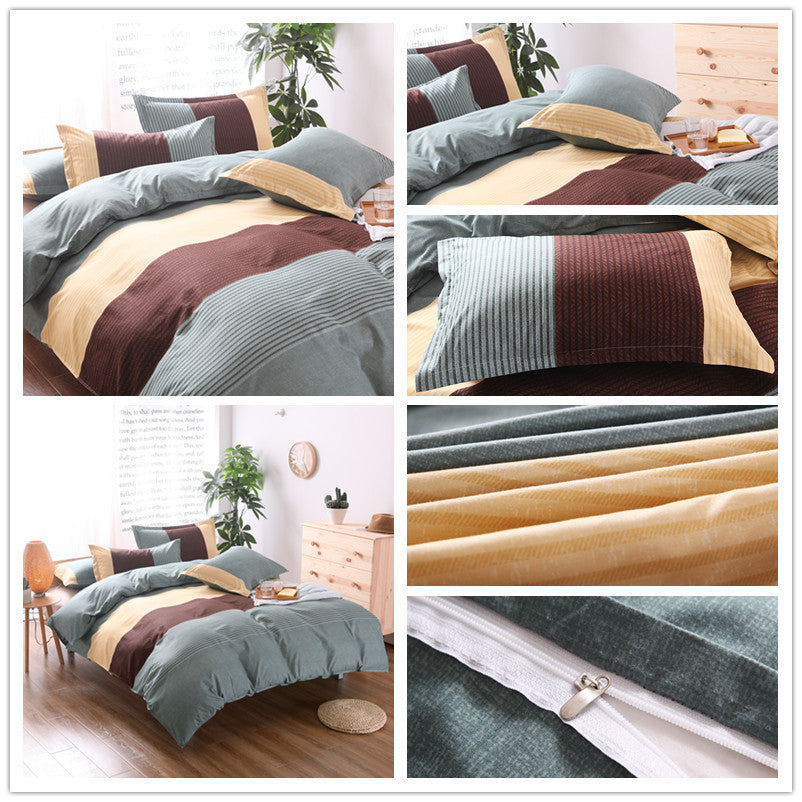 Bedding Sets Stripe Bedding Three-piece Suit