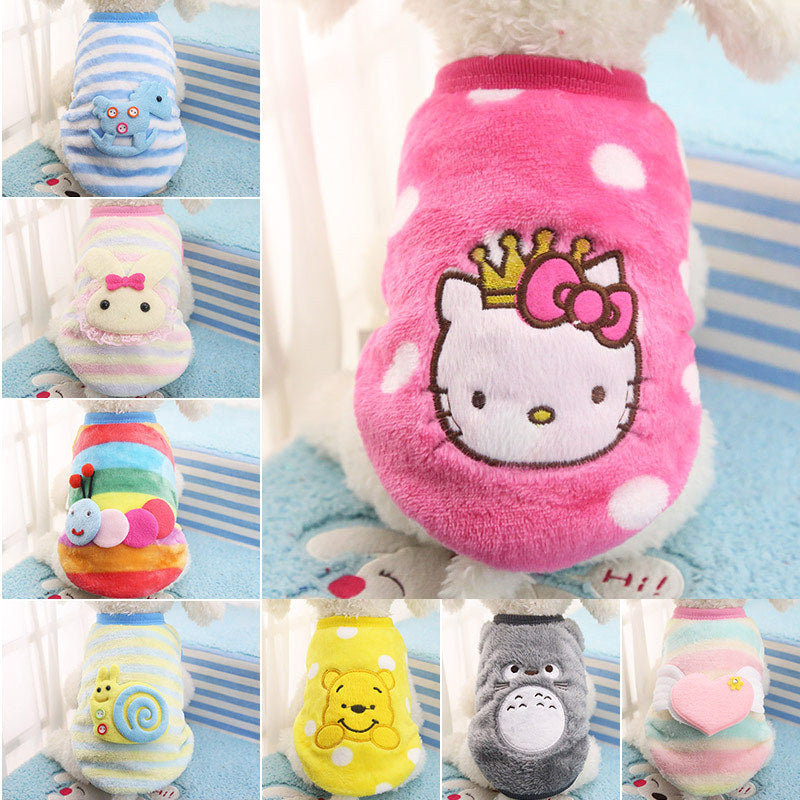 XXS-XL Cute Dog Cat Puppy Clothing Sweater Small Puppy Shirt Soft Pet Cat Coats