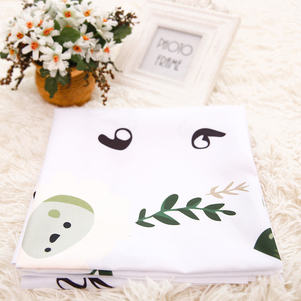 Fashion Number Letter Flower Pattern Baby Blanket for Photo Shoot 100cm x 100cm