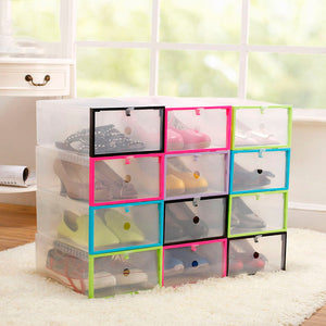 6Pcs Set Dust proof Shoe Storage Box Stackable