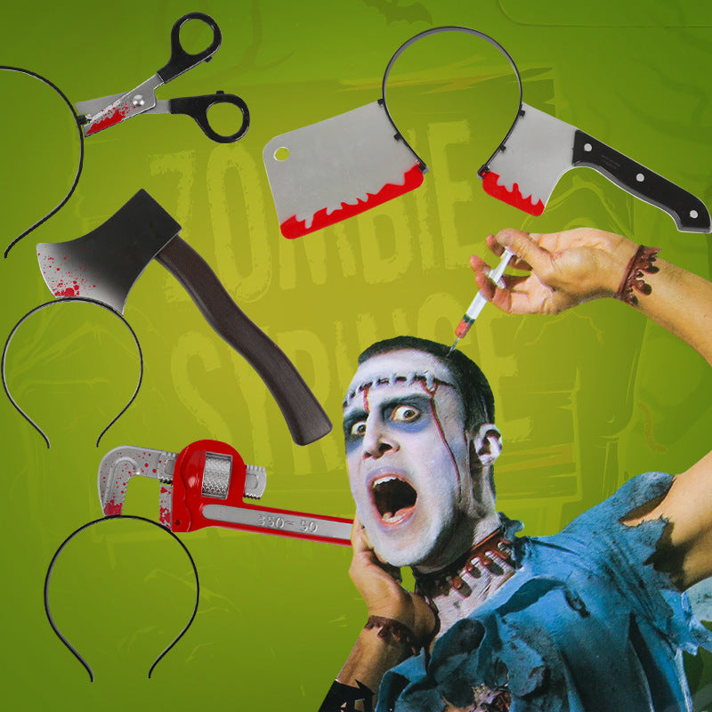Creative Halloween Horrible Toys Head Hoop Cosplay Decors