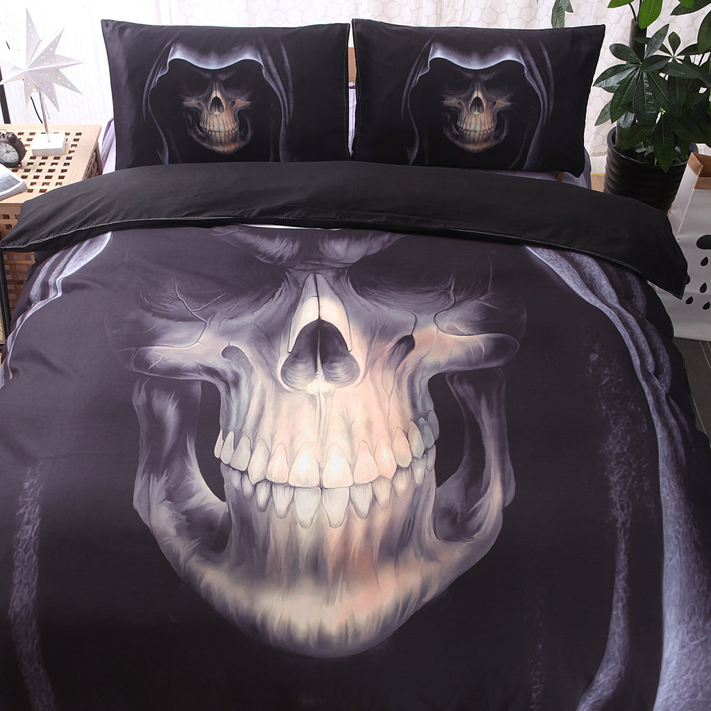 Bedding Sets Skull Bedding Three-piece Suit