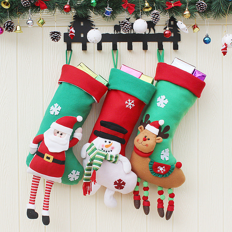 Large Christmas Stocking Bag Xmas Tree Hanging Gift Bag