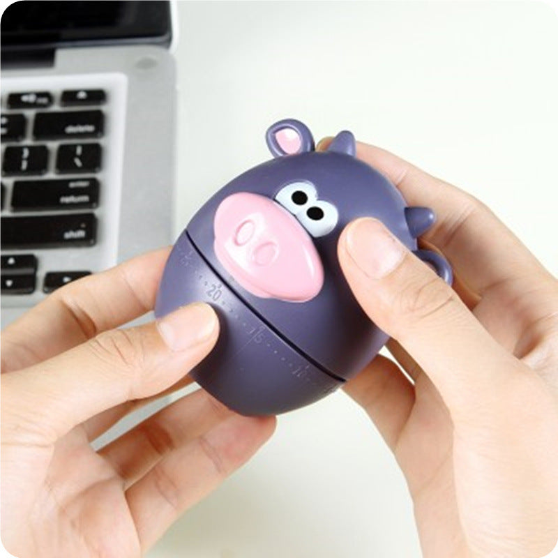 Cute Bear Cow Kitchen Cooking Mechanical Wind Up Timer