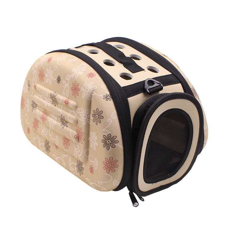 Pet Sided Carrier for Dogs Cats Travel Bag Folding Carrier Bag Collapsible Crate Tote Handbag