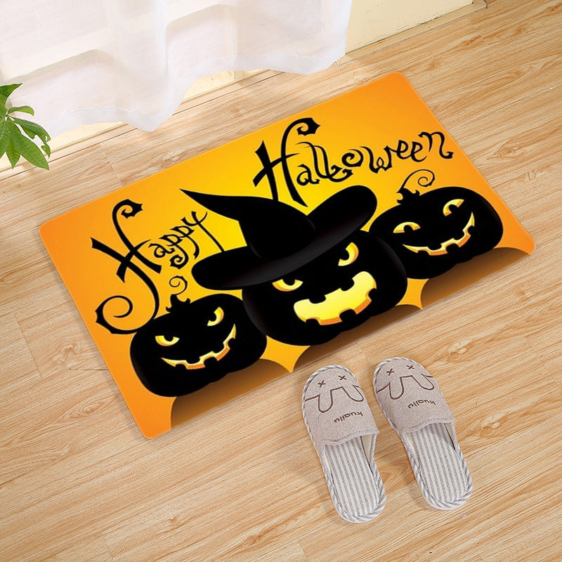 Halloween Area Rug Flannel Bedroom Living Room Door Mat